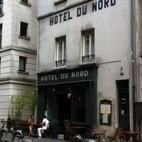 Photo taken at Hôtel du Nord by Camille L. on 8/20/2012