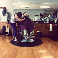 Photo taken at Mustang Barbers by Ashley N. on 7/13/2012