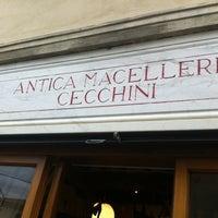 Photo taken at Antica Macelleria Cecchini by Syrah wine cafè M. on 5/20/2012