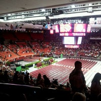 Photo taken at Lloyd Noble Center by Stacey B. on 5/12/2012
