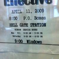 Photo taken at USPS Post Office - Hell Gate Station by Anastasiya D. on 5/4/2012