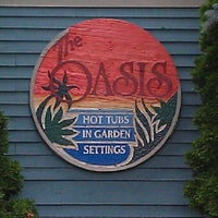 Photo taken at Oasis Hot Tub Garden by CHILLA P. on 7/1/2012