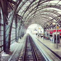 Photo taken at Dresden Hauptbahnhof by Juan E. on 8/16/2012