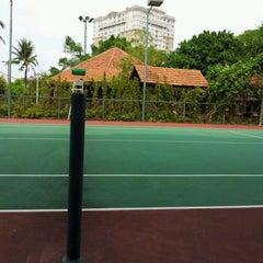 Photo taken at Văn Thánh Tennis Court by Joseph N. on 3/18/2012