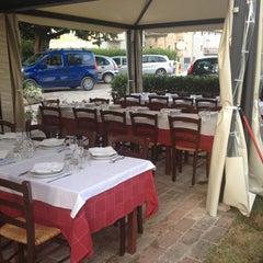 Photo taken at Trattoria Montechiaro by Fabio C. on 7/21/2012