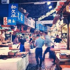 Photo taken at 築地市場 (Tsukiji Fish Market) by Mark W. on 5/2/2012