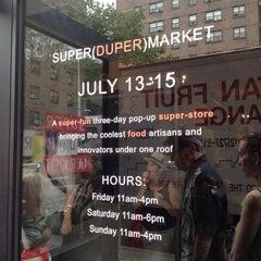 Photo taken at SUPER(DUPER)MARKET by Marc E. on 7/15/2012