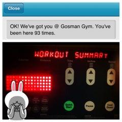 Photo taken at Gosman Gym by Carol L. on 5/24/2012