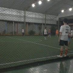 Photo taken at Galaxy Futsal Center by Angga R. on 2/13/2012