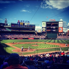 Photo taken at Turner Field by Nathan D. on 9/1/2012