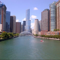Photo taken at Chicago Riverwalk by Kate T. on 7/28/2012