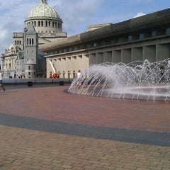 Photo taken at Christian Science Plaza by Pious P. on 8/5/2012