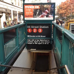Photo taken at MTA Subway - 96th St (1/2/3) by Thomas H. on 11/10/2011