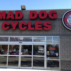 Photo taken at Mad Dog Cycles by Ben B. on 5/15/2012