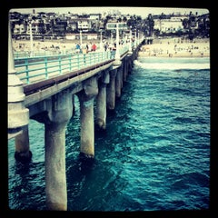 Photo taken at Manhattan Beach Pier by Eric H. on 9/10/2012