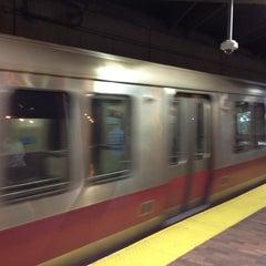 Photo taken at MBTA Red Line by Carlos M. on 8/21/2012
