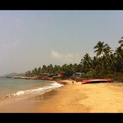 Photo taken at Anjuna Beach by Lena K. on 2/28/2012