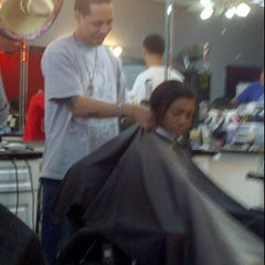 Photo taken at Hall of Fame Barbershop by Lysa C. on 12/17/2011