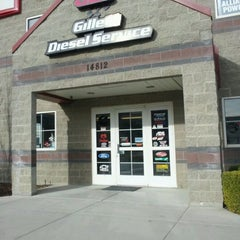 Photo taken at Gillett Diesel Service Inc. by Jacob Barlow on 3/23/2012