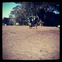 Photo taken at Alamo Square Dog Park by Rob B. on 4/14/2012