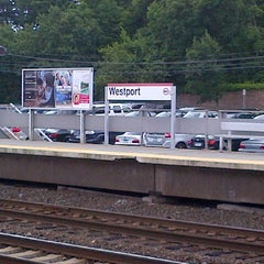 Photo taken at Metro North - Westport Train Station by Emily M. on 7/27/2012