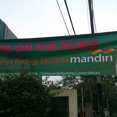 Photo taken at Bank Mandiri CBC Bekasi by Donny S. on 8/14/2012
