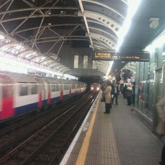 Photo taken at Hammersmith London Underground Station (Circle and H&C lines) by Kathy M. on 3/23/2012