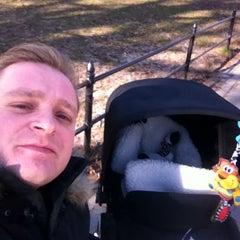 Photo taken at Central Park - Pat Hoffman Friedman Playground by Matej V. on 12/31/2014