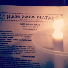 Photo taken at Gereja Katolik Roh Kudus by Devina L. on 12/24/2014