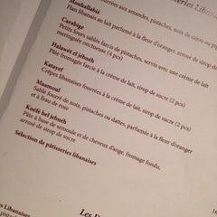 Photo taken at Obeirut Lebanese Cuisine by Nafsika K. on 2/8/2014