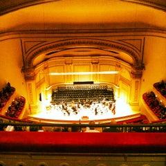 Photo taken at Carnegie Hall (Stern Auditorium/Perelman Stage) by Kristin Y. on 12/19/2012