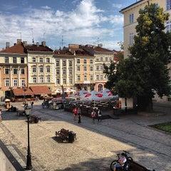 Photo taken at Площа Ринок / Rynok Square by Marina L. on 7/6/2013