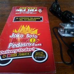 Photo taken at Ayam Penyet Joko Solo by abbyrsli_ on 1/1/2015