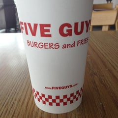 Photo taken at Five Guys Burgers And Fries by Vanessa vance S. on 5/11/2013