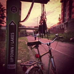 Photo taken at The Midtown Greenway by Tasty Lighting Supply on 8/22/2013