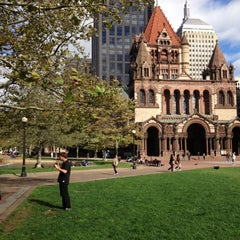 Photo taken at Copley Square by Sean C. on 10/1/2012