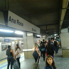 Photo taken at Estação Ana Rosa (Metrô) by Cesar Cliquet D. on 2/8/2013