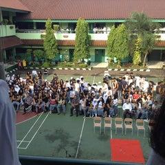 Photo taken at SMAN 61 Jakarta by Zhafira Z. on 5/20/2014