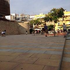 Photo taken at Plaça de la Muralla by Xavier B. on 9/28/2013