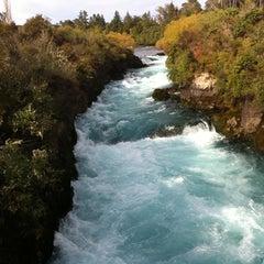 Photo taken at Huka Falls by Narita K. on 3/31/2013