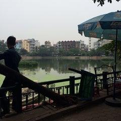 Photo taken at Hồ Văn Chương (Van Chuong Lake) by Gui T. on 12/13/2013