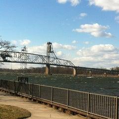 Photo taken at Burlington–Bristol Bridge by Jamie R. on 1/31/2013