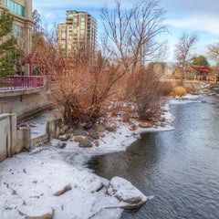 Photo taken at Truckee River by Stephen C. on 12/31/2013