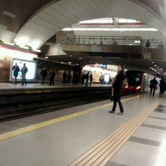 Photo taken at Metro Manquehue by angelica c. on 6/26/2013