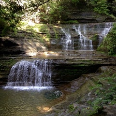 Photo taken at Buttermilk Falls State Park by Dominic G. on 8/30/2013