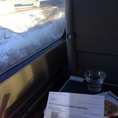 Photo taken at Via Rail Train by Sophie M. on 1/7/2014