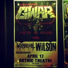 Photo taken at The Gothic Theatre by WILSON on 4/18/2013