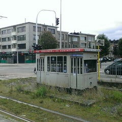 Photo taken at Tram 5 : Halte - Antwerp Stadion by Antwerpeneirke A. on 8/28/2014