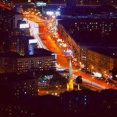 Photo taken at Кутузовский проспект by Ekaterina L. on 11/12/2012