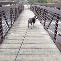 Photo taken at Deschutes River Trail Footbridge by Cassie M. on 2/18/2014